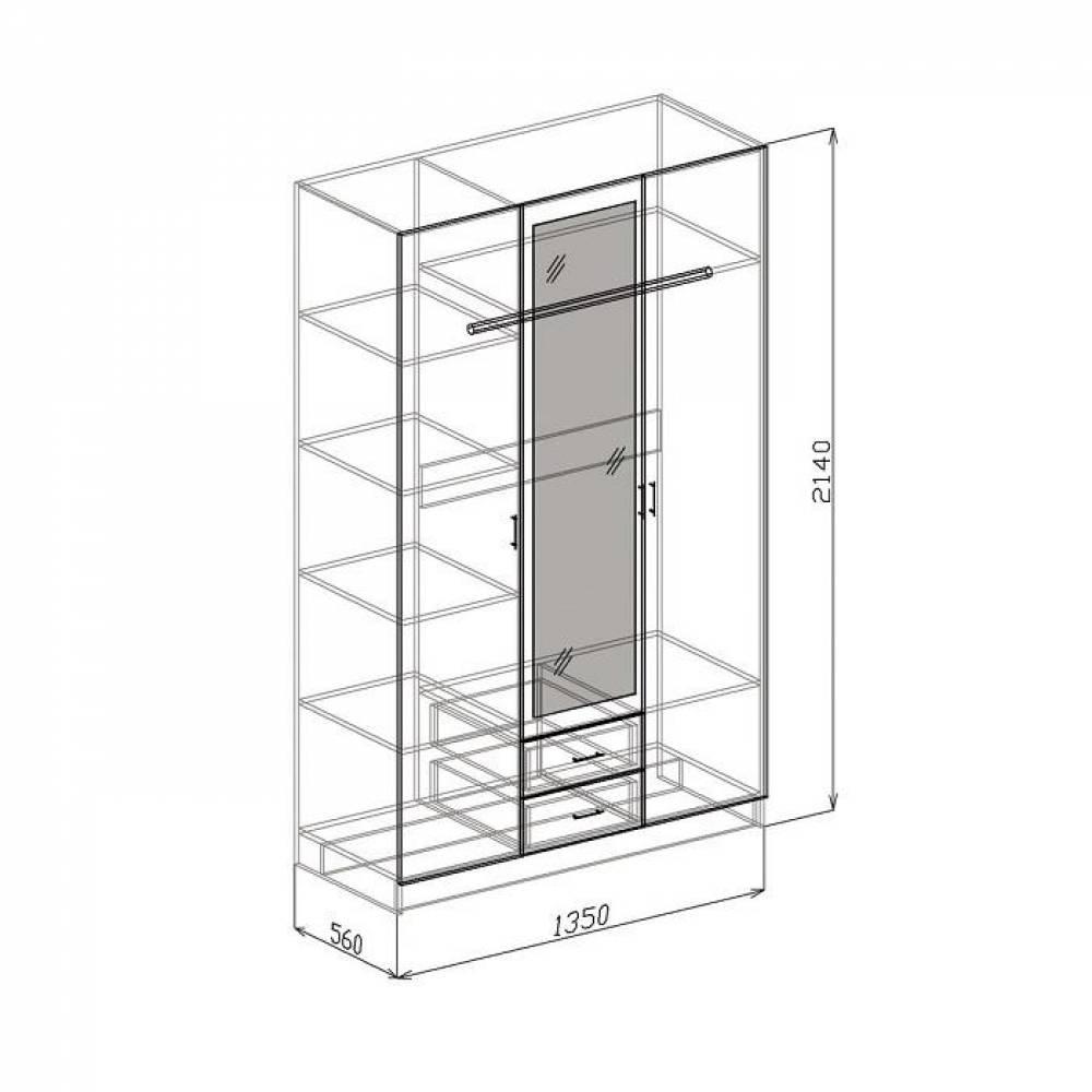 Шкаф 3-дверный ТОКИО (бодега)