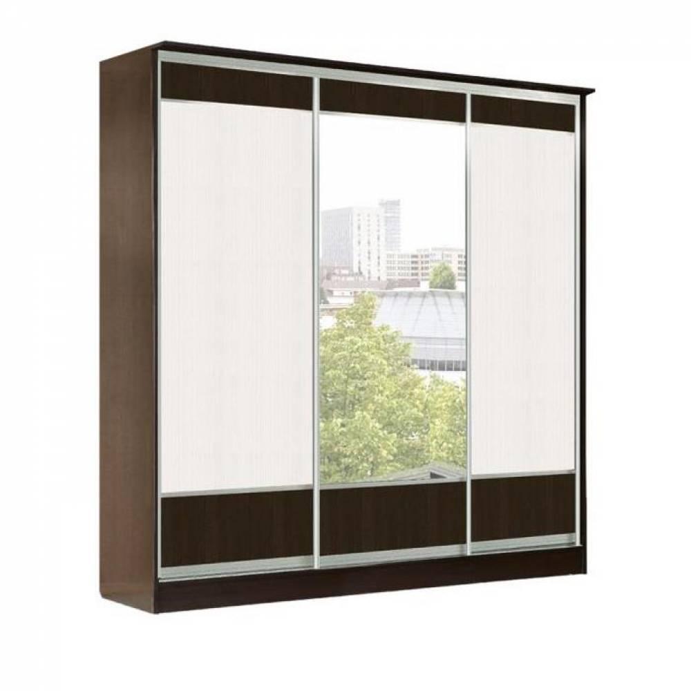 Шкаф купе 3-дверный (дверь+зеркало+дверь) ТОКИО (бодега)