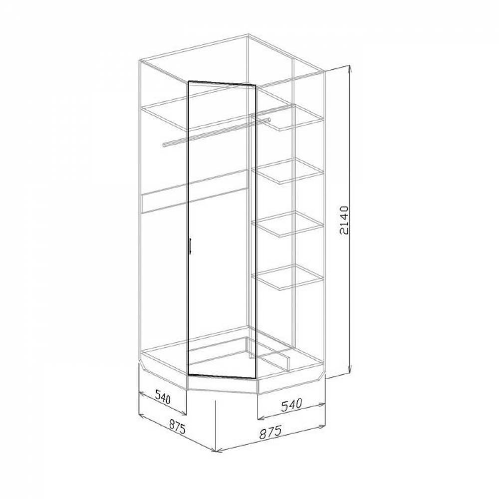 Шкаф угловой ТОКИО (бодега)