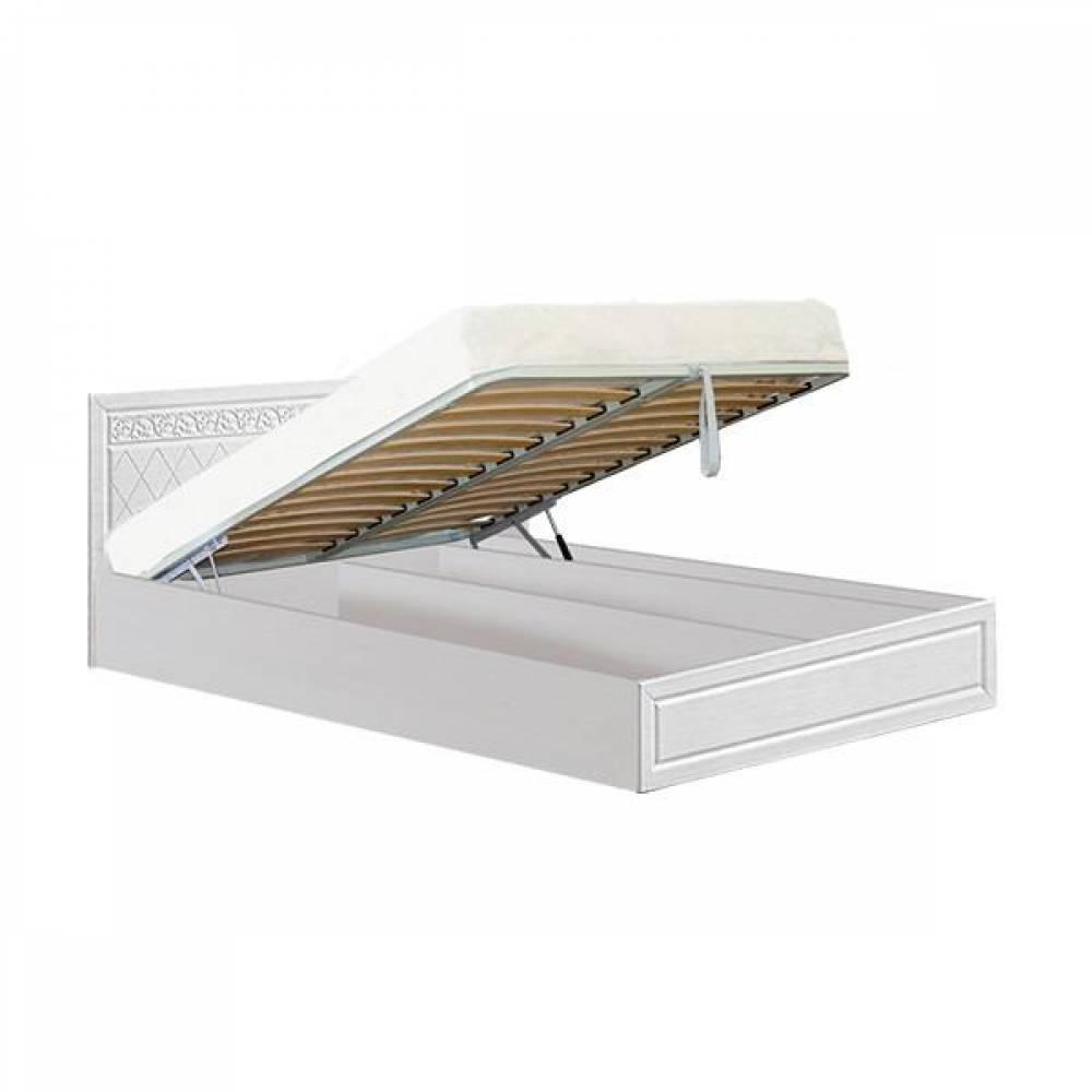 Кровать 1400 №1 с подъемным механизмом ФЛОРЕНЦИЯ (рельеф пастель)