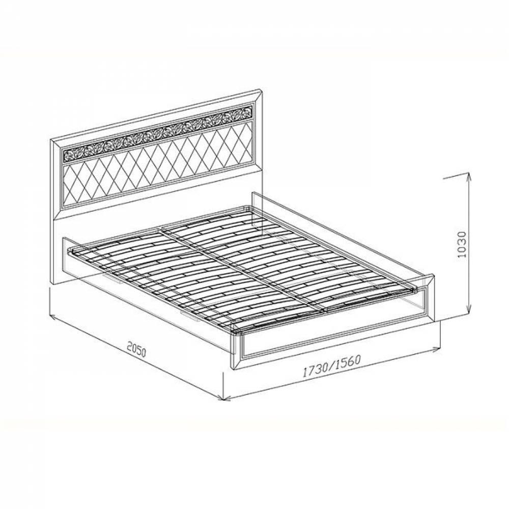 Кровать 1600 №1 с основанием ФЛОРЕНЦИЯ (рельеф пастель)