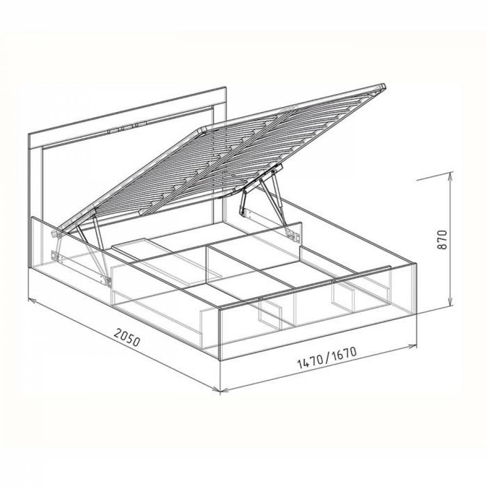 Кровать 1600 №1 с подъемным механизмом СВЕТЛАНА (бодега)