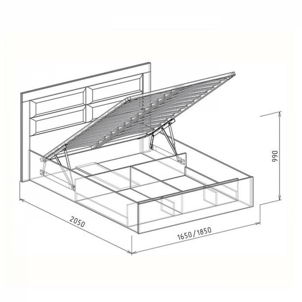 Кровать 1400 №2 с подъемным механизмом СВЕТЛАНА (бодега)