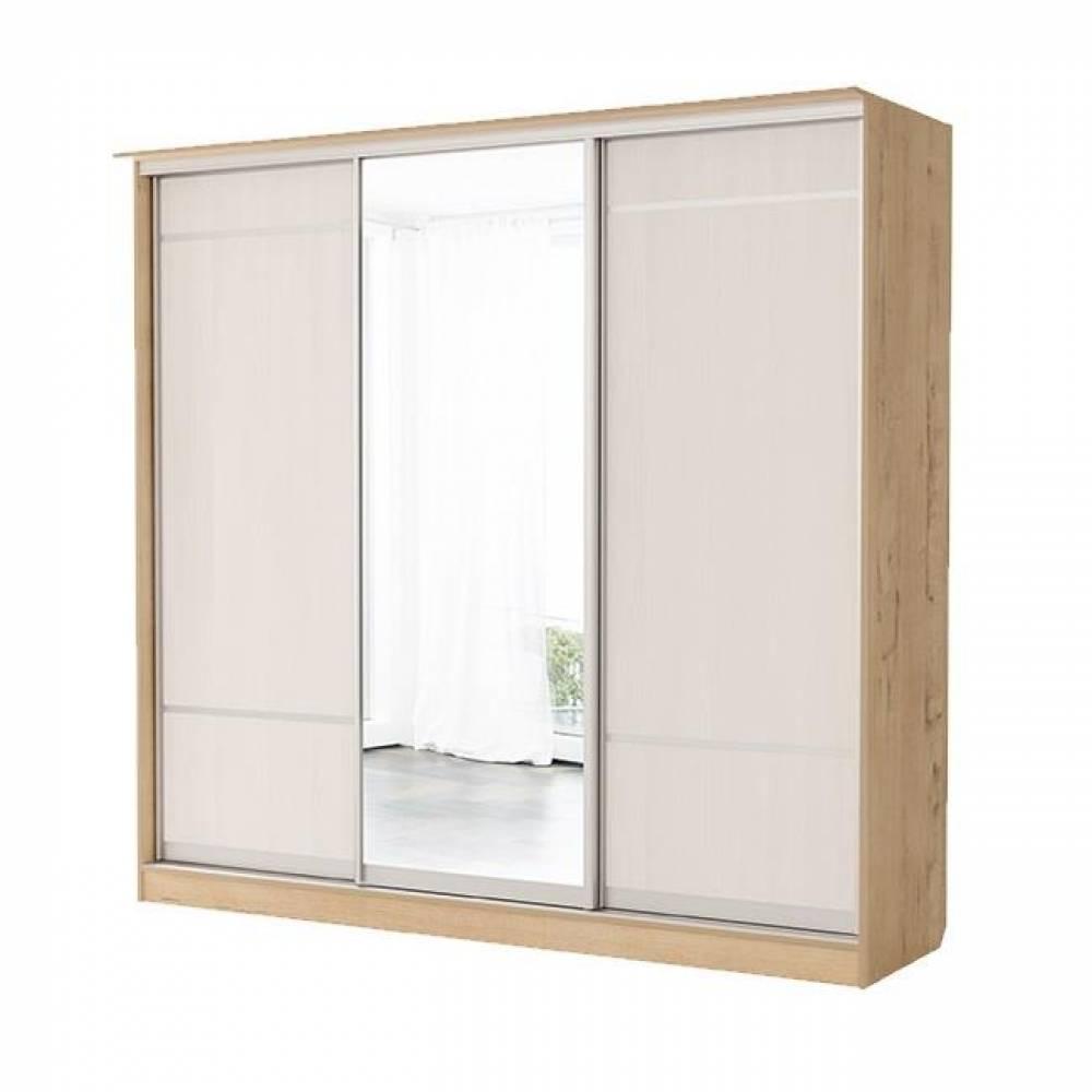 Шкаф купе 3-дверный (дверь+зеркало+дверь) № 11 СВЕТЛАНА (бодега)